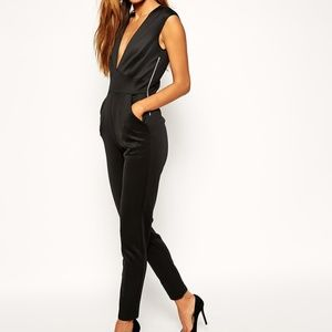 ASOS Scuba Jumpsuit with Deep Plunge NWT